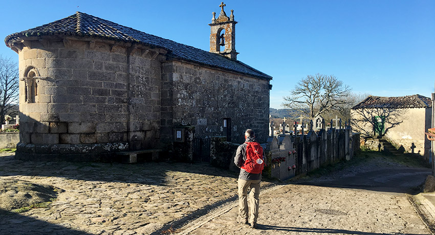 Pilgrim walking the way of St James