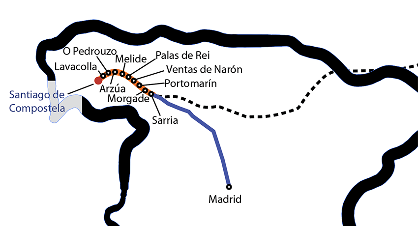 easygoing camino route map