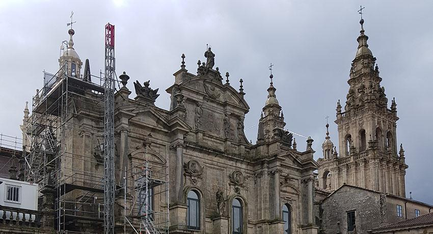cathedral with scaffolding
