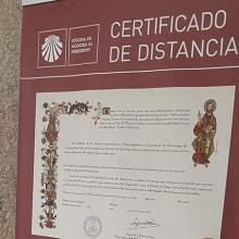 Poster with the distance certificate