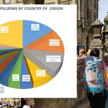 pie chart of Camino walkers by country